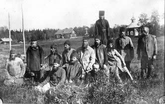 Сщмч. Иларион (Троицкий) седьмой слева, рядом - епископ Игнатий Садковский